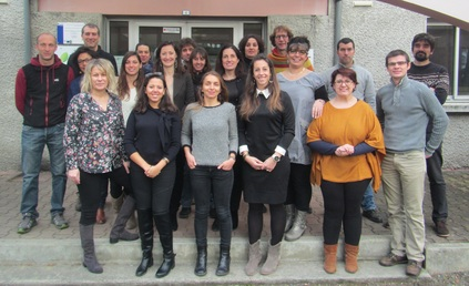 Maryse Carrère et une partie de l'équipe du PLVG au 1er janvier 2017
