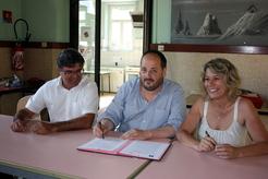 Maryse Carrère, Laurent Grandsimon et Gilles Perron