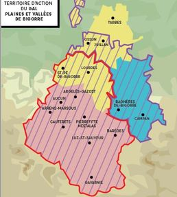 Territoire du GAL Plaines et Vallées de Bigorre