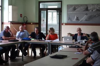 Présentation du projet de territoire au COPIL en juillet 2016