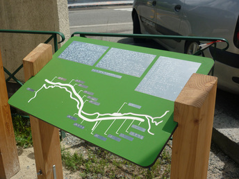 Relief printed and Braille map of the greenway